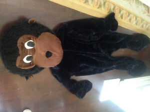 Large Mans Gorilla Costume Men Lg L Man Monkey Suit Play Ape Big