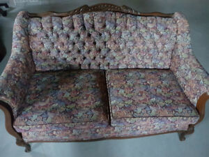 Price Reduced!Victorian wood carved love seat and chair