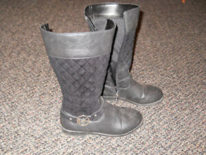Black Girls Michael Kors Dress Boots, Size 2