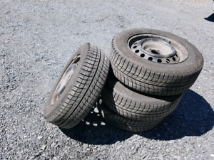 4 Michelin X Ice Winter tires and rims
