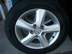 """4 MAG MAZDA avec pneu d""""ete KUMHO 195 65R 15   (5X 114.3)"""