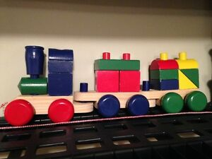 Children's Wooden Toy Train