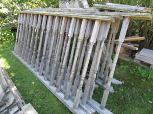 Recycled deck wood railing system