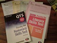 Passing the Literacy and Numeracy skills test books