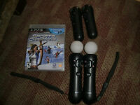 PlayStation 3 Move Controller  2 Wand + 2 Navigation + 1 game