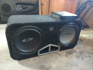 """2 12"""" subs with ported box (make an offer)"""