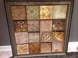 """48"""" x 48"""" Traditional Wall Art with metal frame"""