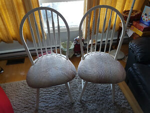 Two Sturdy and Clean Metal Chairs