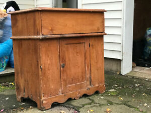 antique wood furniture (wash basin, coffee table)