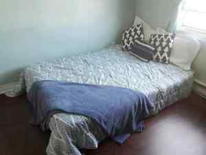 bed frame and twin mattress
