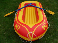 Inflatable two person Raft / Boat w/ Paddles / Oars