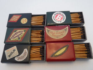 VINTAGE MATCH BOXES CELLULOID COVERED ADVERTISING LOT