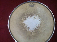 Worn out drum skins