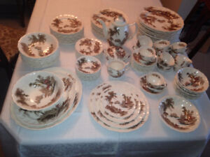 The Old Mill Antique China set 100+pieces
