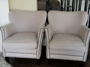 Modern Nailhead Armchairs (set of 2)