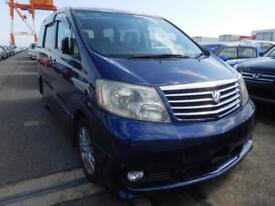 TOYOTA ALPHARD, 2005, 3.0 LITRE V6, PETROL, 71,529 MILES, AUTOMATIC IN BLUE