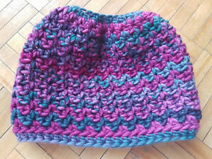 Messy Bun Crochet Hats - Variety of Colours Available Peterborough Peterborough Area image 2