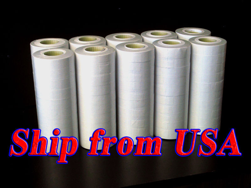 10 tubes (100 rolls) Brand new White Labels For MX-6600 Price Label Gun