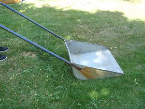 Large steel snow scoop - $15