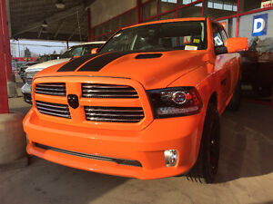 *SPECIAL* NEW RAM  2017 ORANGE CREW CAB SPORT 4x4