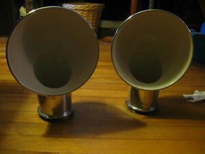 Pair of chrome Perko cowl vents for antique or modern boat.