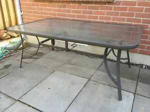 Glass-top Patio Table