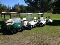 4 YAMAHA GOLF CARTS
