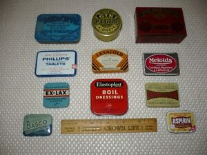 Nouveauté...  Anciennes petites boites en métal