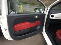 FIAT 500 1.3 MultiJet LOUNGE + RED LEATHER INTERIOR,PAN ROOF. F.S.H