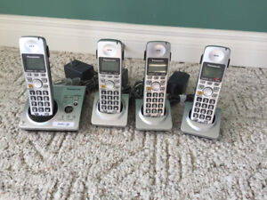 Set of 4 Panasonic Phones with Answer and Message Recording