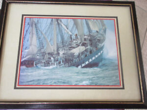 Print of The Sinking of the Seahorse - Irish Tragedy