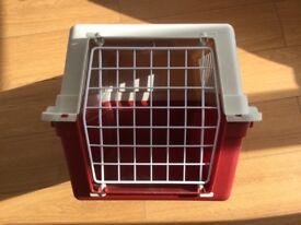 PET CARRIER, RED/CREAM EXC VGC £10
