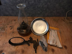 Wall mounted Antique oil lamp