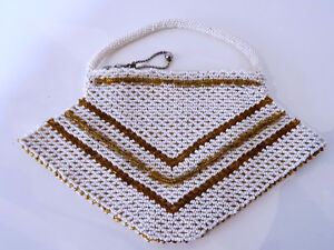 ART DECO beaded HANDBAG Czechoslovakia CHEVRON PATTERN 1920s-40s Kitchener / Waterloo Kitchener Area image 3