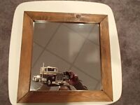 Wood Framed Mirror with International TranStar Truck Picture