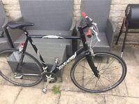 Saracen razor men's XL flat bar road bike