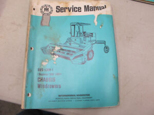 IH 210,225,230,275,375 Windrower Swather Service Manual