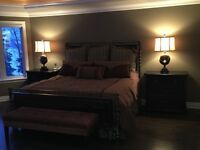 Bedroom set all wood and cast iron