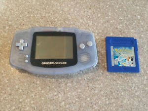 Gameboy Advance with Pokemon Blue