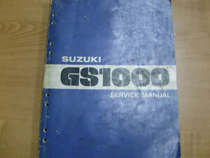 SUZUKI GS1000 FACTORY SERVICE MANUALS