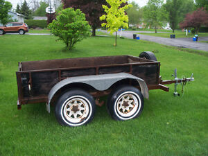 Nice double axle trailer.
