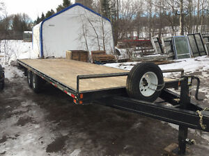 2015 Double A HB148 24 ft flat deck trailer