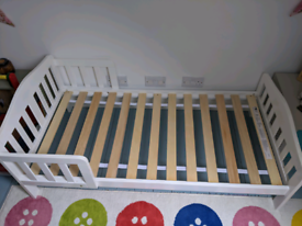 Mothercare white toddler bed