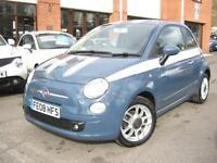 2008 08-Reg Fiat 500 1.2 SPORT,GEN 47,000 MILES,RARE JIVE BLUE & GREAT SPEC!!!
