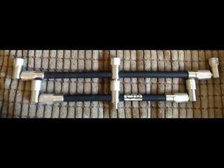 Brand new solar carbon stainless buzz bars carp fishing