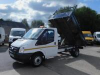 FORD TRANSIT 2.2TDCI T350 MWB 6 SPEED TIPPER SAME DAY FINANCE CALL ANYTIME