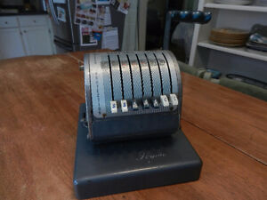 Vintage Paymaster Cheque Writer Machine Series X-550 W/Key