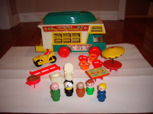 FISHER PRICE CAMPER W ACCESSORIES