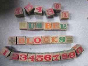 Collection of vintage wooden number/letter blocks Kitchener / Waterloo Kitchener Area image 4