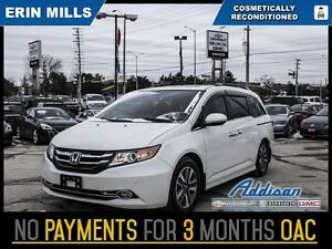2015 Honda Odyssey Touring   Navi DVD Sunroof Pearl White Loaded